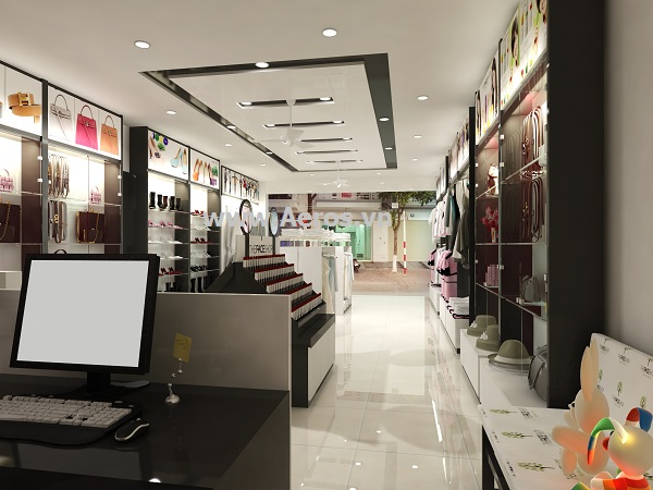 Hình ảnh thiết kế thi công shop thời trang T & T tại Hà Nội