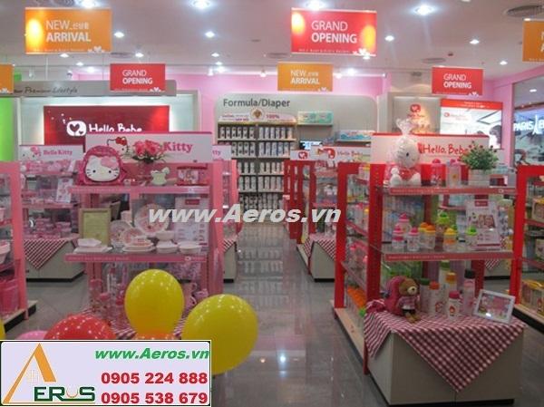 THIẾT KẾ GIAN HÀNG  cho trẻ em HELLO BEBE ờ TTTM Royal City, Hà Nội