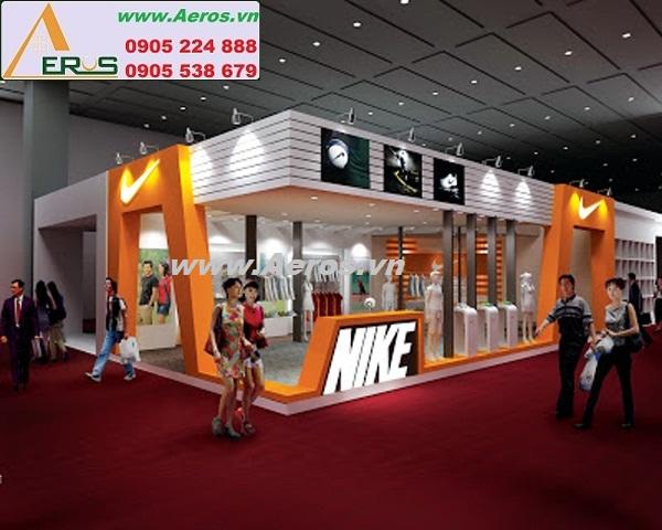 THIẾT KẾ THI CÔNG gian hàng hội chợ triển lãm thời trang NIKE, TP. HCM