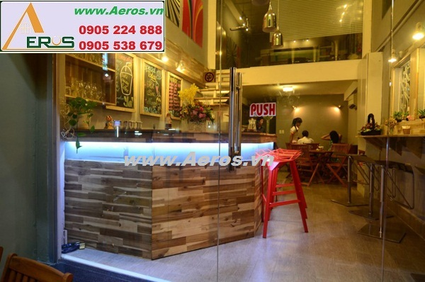 THIẾT KẾ NỘI THẤT QUÁN CAFE YA COFFEE SHOP, quận 1, HCM