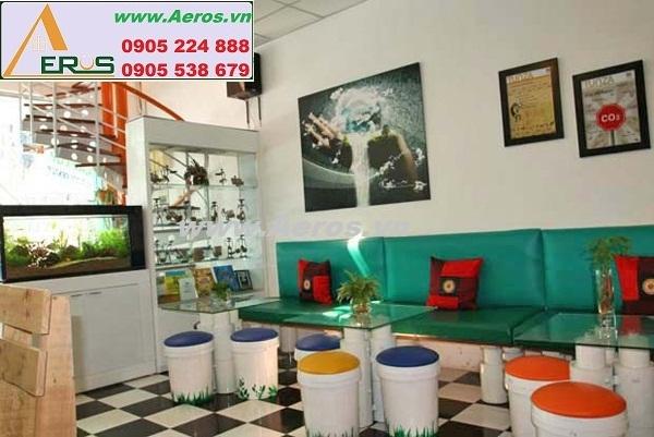 THIẾT KẾ NỘI THẤT QUÁN CAFE , Eco Coffee Shop, quận 1, HCM