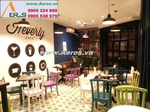 THIẾT KẾ NỘI THẤT QUÁN CAFE HEVERLY COFFEE SHOP, quận 1, HCM