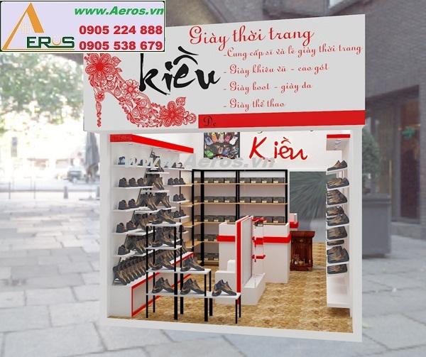 THIẾT KẾ NỘI THẤT SHOP GIÀY KIỀU, anh Lộc, Nghệ An