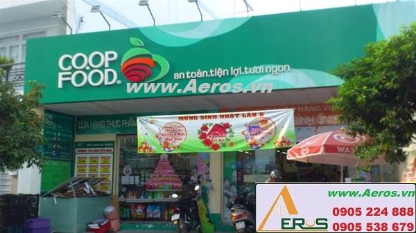 THIẾT KẾ NỘI THẤT SIÊU THỊ MINI COOP FOOD tại Bình Thạnh, HCM