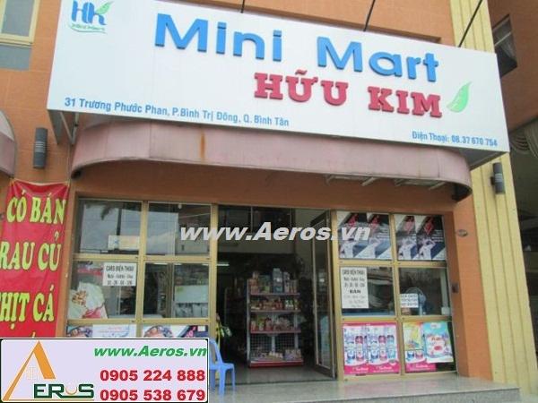 THIẾT KẾ NỘI THẤT SIÊU THỊ MINI HỮU KIM tại Bình Tân, HCM