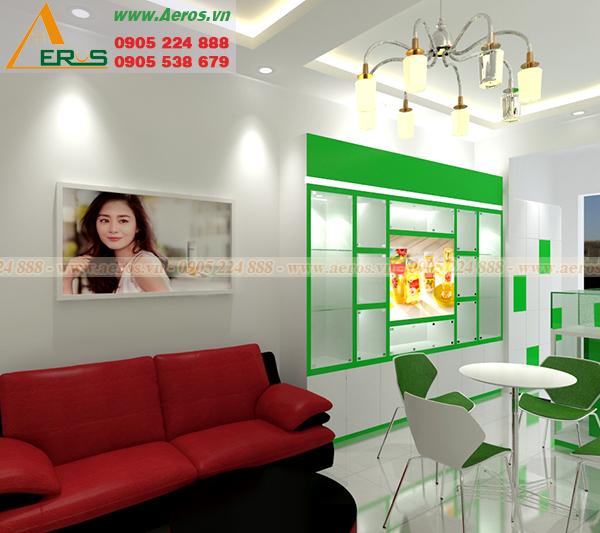 Thiết kế nội thất shop mỹ phẩm chị Liên