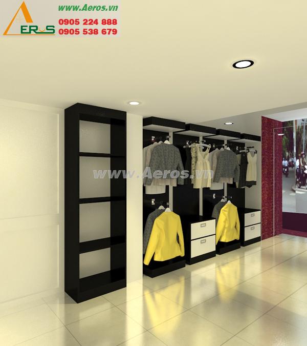 Hình ảnh thiết kế thi công shop thời trang quần áo anh Vũ, quận Tân Bình, TPHCM
