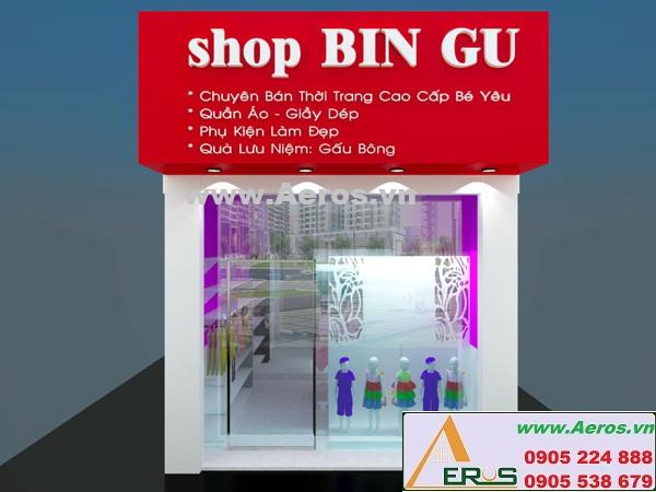THIẾT KẾ SHOP THỜI TRANG TRẺ EM, Bin Gu, tp.HCM