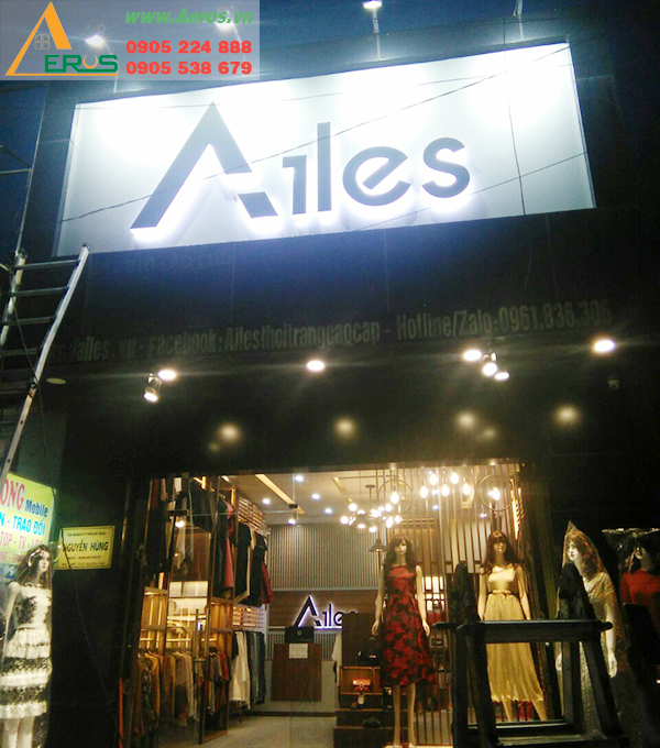 AEROS THiẾT KẾ THI CÔNG SHOP THỜI TRANG AILES Ở TẠI HUYỆN CỦ CHI, TP HCM