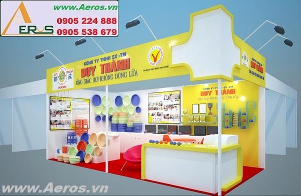 THIẾT KẾ THI CÔNG gian hàng hội chợ triển lãm nhựa Duy Thành, TP. HCM