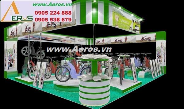 THIẾT KẾ THI CÔNG gian hàng hội chợ triển lãm xe đạp điện GIANYA, Hà Nội