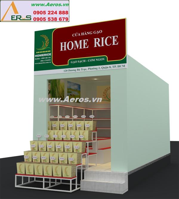 THIẾT KẾ NỘI THẤT SHOP GẠO Home Rice tại quận 8, HCM