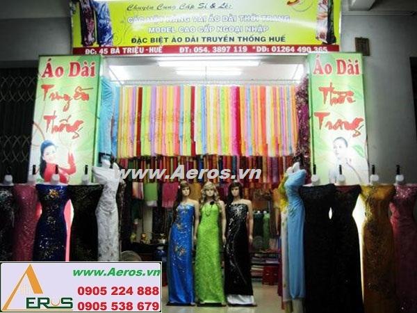 THIẾT KẾ NỘI THẤT shop vải áo dài THANH HƯƠNG tại TP. HUẾ