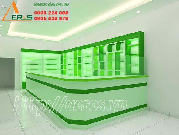 Hình ảnh thiết kế thi công nội thất nhà thuốc tây Phương Uyên, Thủ Dầu Một, Bình Dương