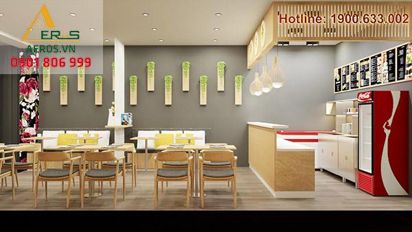 Thiết kế thi công nhà hàng Mama Chicken của chị Ngọc Lan