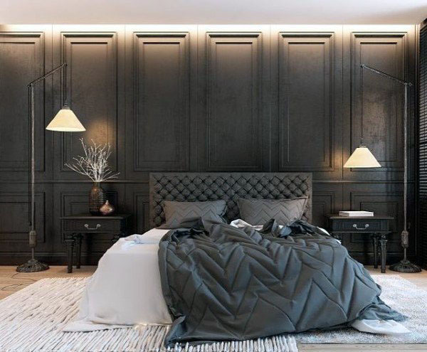 25 Mẫu phòng ngủ màu đen sang trọng và vô cùng lịch lãm