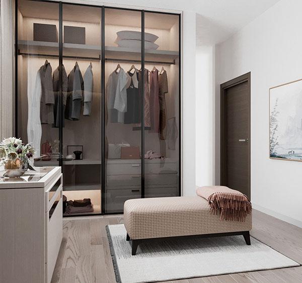nhỏ nhưng có võ thiết kế căn hộ 48m2 2 phòng ngủ