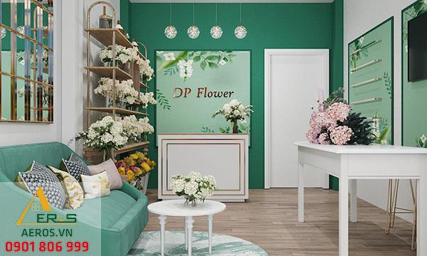 Thi công shop hoa tươi DP Flower tại quận Gò Vấp, TP.HCM