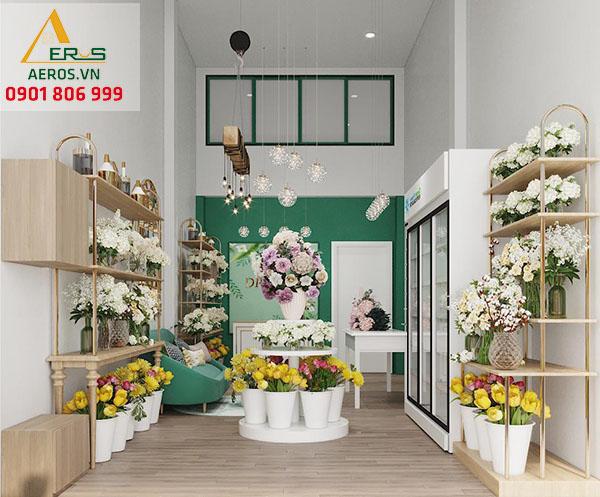 Thiết kế thi công shop hoa tươi DP Flower tại quận Gò Vấp, TP.HCM