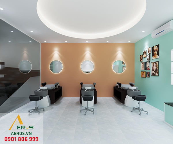 Thiết kế salon tóc Tiên của anh Linh tại tỉnh Bình Dương