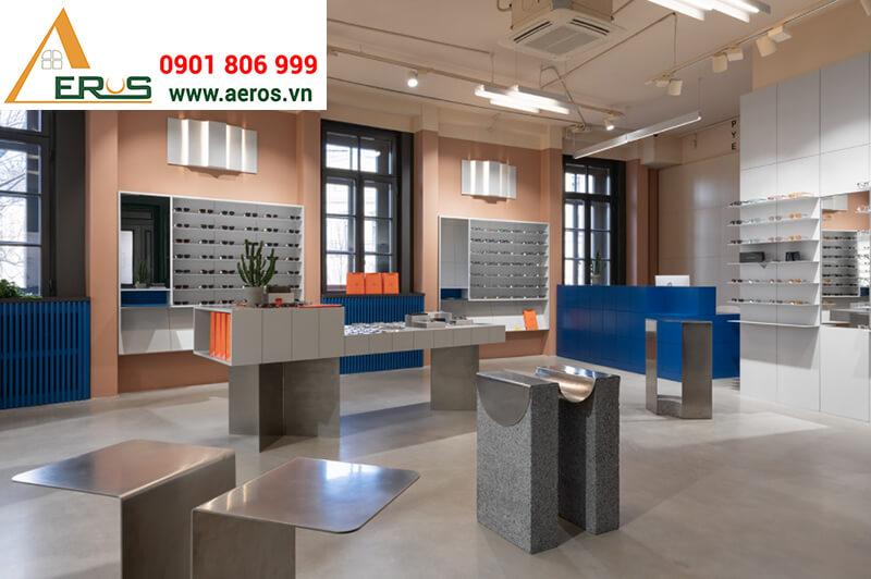 thiết kế cửa hàng mắt kính