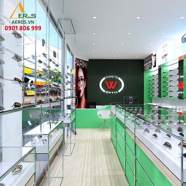 Thiết ké cửa hàng mắt kính Hoàng Hà tại quận Tân Phú, TP.HCM