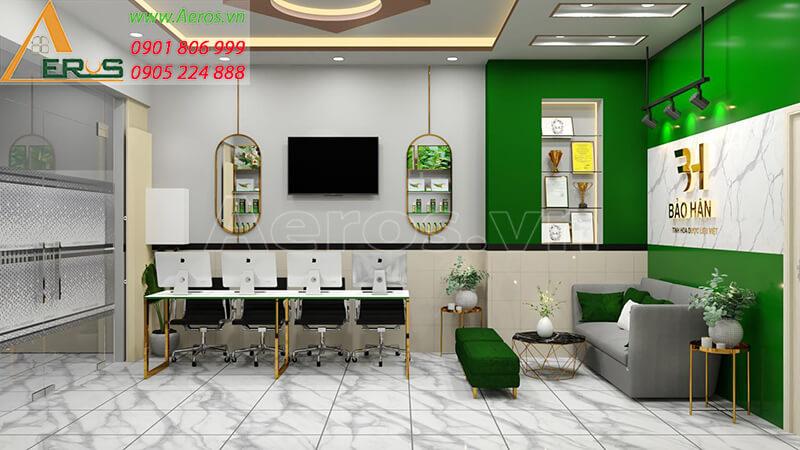 Thiết kế nội thất showroom thực phẩm chức năng Bảo Hân tại quận 8, TP.HCM
