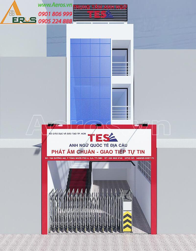 Thiết kế nội thất trung tâm anh ngữ TES, quận 9