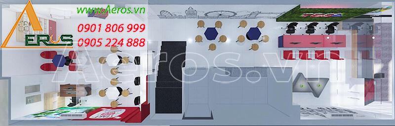 Thiết kế nội thất trung tâm TES của chị Hiền tại quận 9, TP.HCM