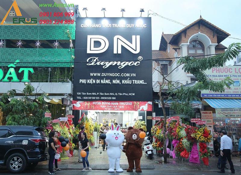 THiẾT KẾ THI CÔNG SHOP THỜI TRANG DUY NGỌC Ở QUẬN TÂN PHÚ, TPHCM