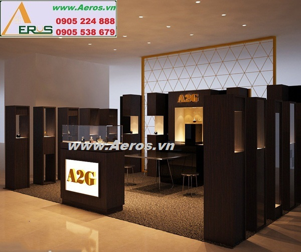 THIẾT KẾ gian hàng mỹ phẩm A2G tại TTTM KeangNam, Hà Nội
