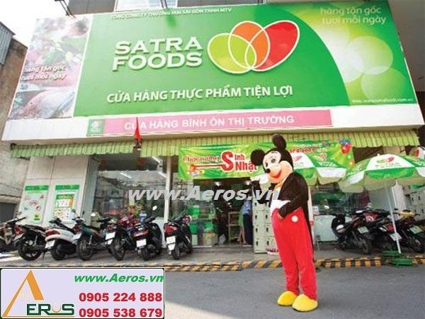 THIẾT KẾ NỘI THẤT SIÊU THỊ MINI Satra Foods tại Tân Phú, HCM