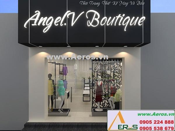 THIẾT KẾ NỘI THẤT SHOP THỜI TRANG, ANGEL.V BOUTIQUE, TP.HCM