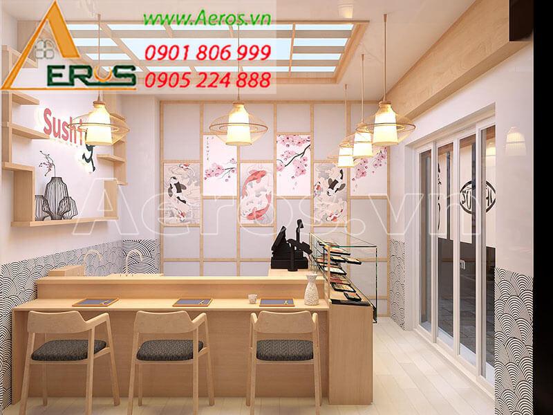 Thiết kế nội thất quán ăn sushi của anh Thạch tại Phú Nhuận, TP.HCM